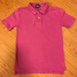 Purple Ralph Lauren Polo shirt size M 10-12